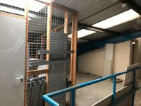 1500msq secure storage area with office spaces