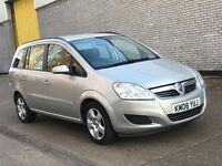 2008 VAUXHALL ZAFIRA 1.8 PETROL MANUAL EXCLUSIV NEWER MPV 7 SEATER FAMILY MOT CAR EXCELLENT DRIVE
