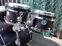 British Classic Jalapeno Birch Custom 6 piece Drum Kit with Hardcases