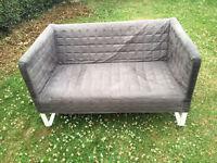 2 seat grey sofa from Ikea