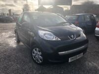 09 PEUGEOT 107 URBAN 1.0 PETROL IN BLACK *PX WELCOME* 12 MONTHS £1995