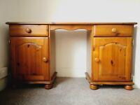 Solid pine dressing table/ desk