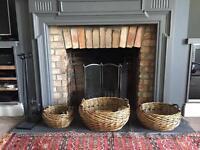 3 wicker baskets