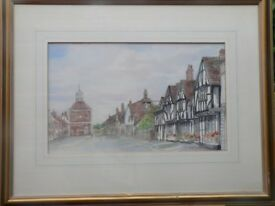 """Amersham"" watercolour painting by Dorothy Griffiths"