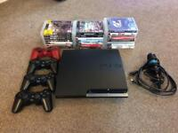 Playstation 3 PS3 bundle. 23 games, 4 controllers.
