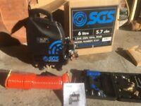 SDS 60ltr air compresor nail gun 16pc adjustmentset unused item original box and intructions
