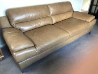 Tan Leather Sofa&Armchair