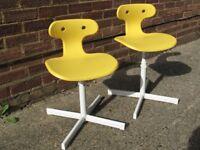 2 Ikea child desk chairs