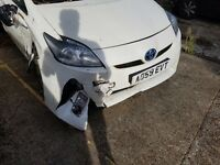 Toyota Prius 59 with PCO sticker accident car