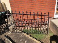 driveway gates x 2 with posts