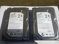 "2TB Sata Hard Drives 3.5"" (3 for sale)"