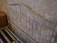 Laura Ashley Double Bed (Metal Frame & Matress)