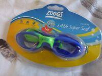Brand New, Zoggs Little Super Seal Swimming Goggles, Age 0-6Yrs.