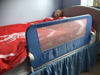 CHILDRENS BED GUARD BLUE