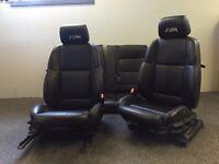 [Simmons BMW Livingston] BMW E36 3 Series Black Leather Seats Interior - camper - also E46 & E38