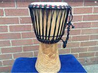 African Wooden Tribal Bongo Drum