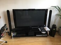 """50"""" Samsung Plasma HD ready with Freeview 2 x HDMI glass stand and surround sound"""
