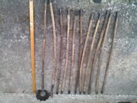 Vintage set of Chimney sweep and or drain rods in good condition. Very old item but still usable.