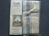 New Blue and Cream Curtains
