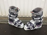 Ski boots and skis for sale