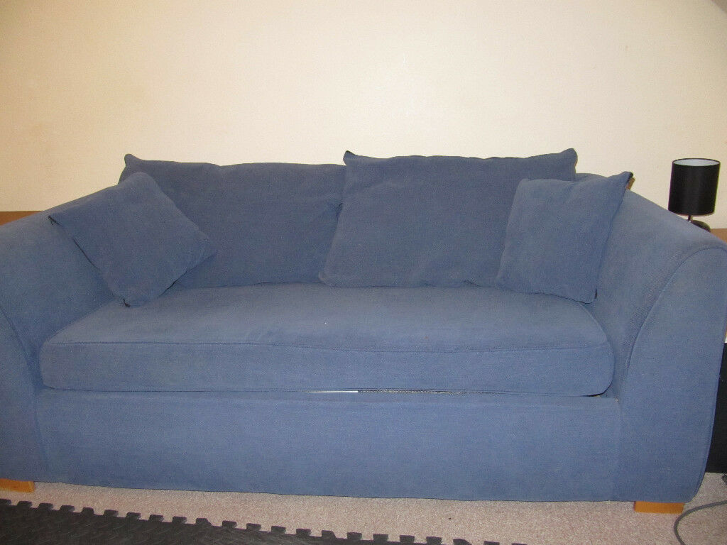 Blue Metal Spring Action Sofa Bed In Aberdeen Gumtree