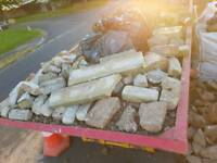 Bricks and rubble bags