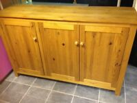 LARGE VERY HEAVY PINE SIDEBOARD EVERY INCH SOLID PINE VGC