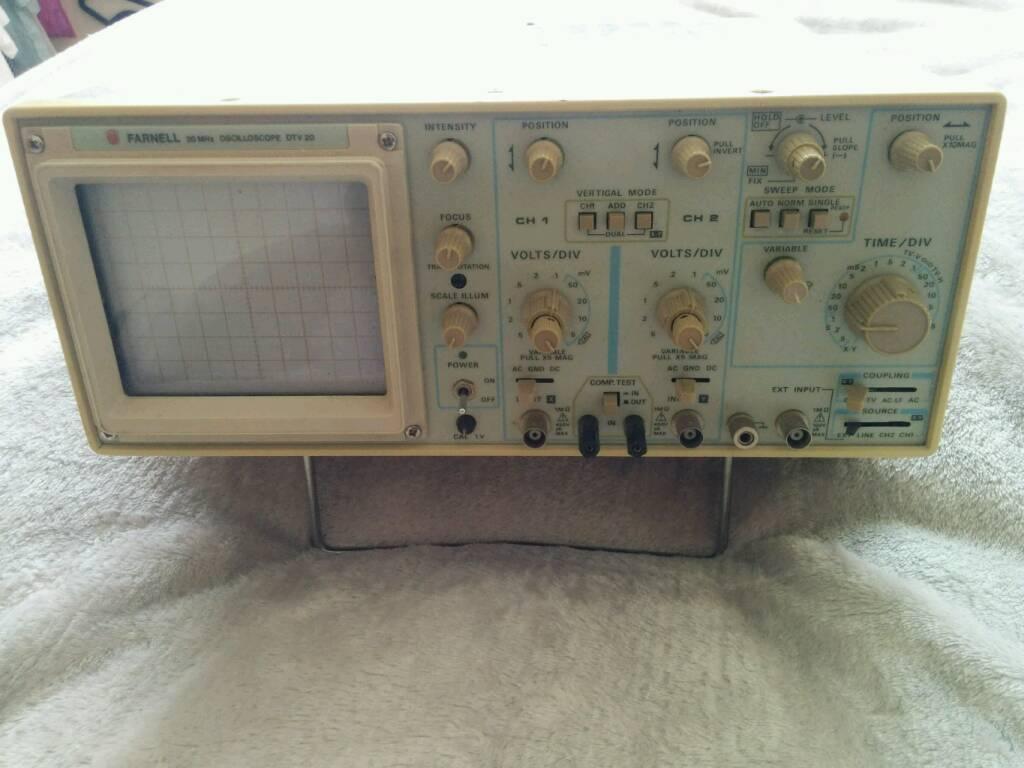 Farnell 20Mhz Oscilloscope (DTV20)