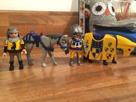 Playmobil knights and horses