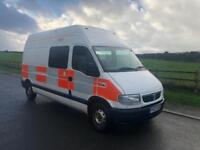 Vauxhall Movano 3500 2.5 DTI Only 17,800 Miles FSH 8 Seater Day van / Campervan