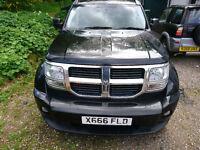 Dodge nitro, black very good condition, part service history, excellent driver