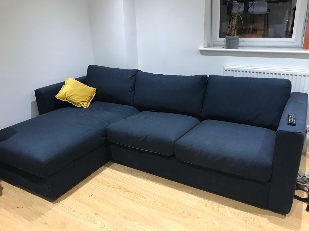 best website 70842 adce3 Vimle Ikea 3 Seater Corner Sofa w/ chaise lounge | in Croydon, London |  Gumtree