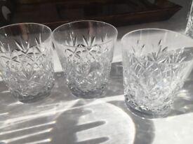 Cut Glass Whiskey Tumblers