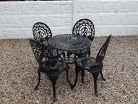 Cast iron garden furniture / Outdoor furniture / patio / garden table and chairs / vintage furniture