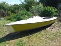 Boat hull suitable for many projects. Versatile could be used for sailing or fishing boat project.