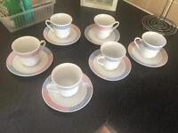 Fine China Tea cup & saucer set (6)