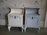 2 vintage bedside tables