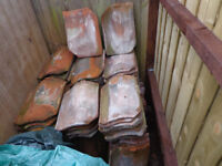 Old Bridgwater clay roof tiles for sale