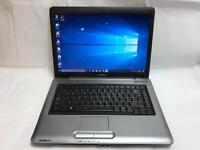 Toshiba Fast Laptop, 3GB Ram, 160GB, Genuine Windows 10, Microsoft office, VGood Condition