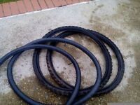 Mountain bike tyres and inner tubes, pair 26 x 1.95
