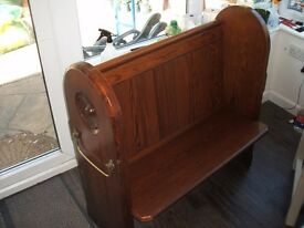 Pitch Pine Small Church Pew (1860)