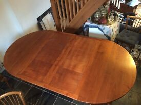 Adaptable extending French dining room table Solid Wood