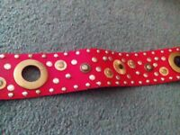 Red Leather Ladies Belt