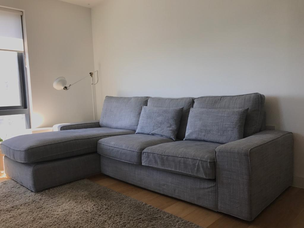 ikea kivik two seater sofa with chaise longue in southampton hampshire gumtree. Black Bedroom Furniture Sets. Home Design Ideas