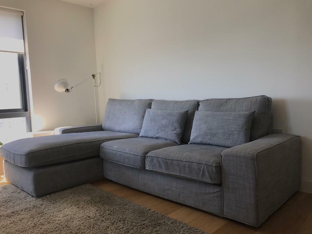 Ikea Kivik Two Seater Sofa With Chaise Longue In