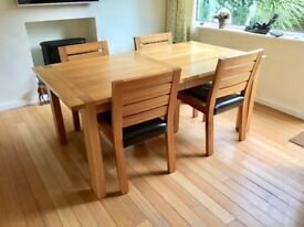 M&S Somona oak dining table and four chairs