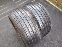 """Two 225/45/17"""" Part Worn Tyres 7mm / 6mm Not Alloys"""