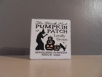 Shabby primitive Witch/Halloween Plaques Chic and Unique