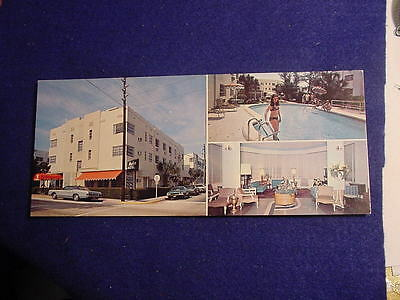 The Mayfair Hotel Miami Beach Art Deco Florida FL  Postcard NEW