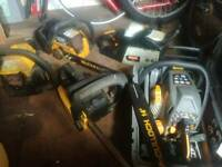 5 × petrol chainsaws spares or repair